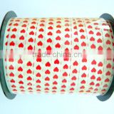 Flower Making Materials/500 YARDS Per Roll Polyester Ribbon With Heart Jacquard FOR Valentine's Day