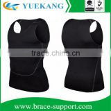 Mens Breathable Sport Vest, Sleeveless Compression Tank Top, Slimming Body Shaper Vest Shirt