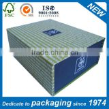 matte black flat folding cardboard box for clothes
