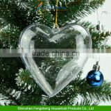 Christmas Tree Decoration Hang Ball Clear Plastic Hearts Wedding Baubles