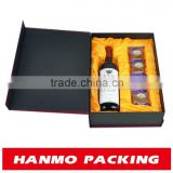 pvc window silver foil stamping logo uv coating paper packaging box with cardboard compartments