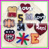Factory wholesale Love Heart Mixed Package Hand Sew-on Towel Embroideried DIY Woven Patches
