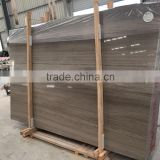 Wooden Grey Marble Slabs & Tiles, Chinese Grey Marble, Grey Polished Marble Floor Covering Tiles, Wall Tiles