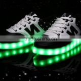 "8 Colors High Quality 2016 hot selling ""N"" Casual Women & Men Shoes, Led Luminous USB Charging Lights shoes Size 35-46"