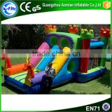 Colorful wholesale inflatable bounce houses dragon slide adult bouncy house for backyard