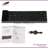 [somostel] Flexible portable waterproof custom silicone cover bluetooth computer keyboard specification