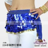 blue chiffon belly dance hip scarf ,belly dancing belt,belly dance belts,belly dancing scarfs,belly dancing hip scarf