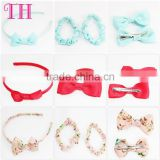 fancy hair accessories korean types of hair bands fabric grosgrain flower bow party headband for kids