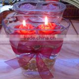 Floating Glass Jar Candle for Wedding Centerpiece