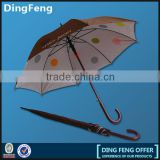 high quality 27inch fiber outdoor double canopy golf umbrella with custom design