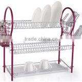 LBY modern style 3 tiers dish rack with tray and cutlery holder