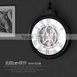 Retro Round Gift Kitchen Craft Vintage Style Unique Art decorative wall clock for wholesale                                                                                                         Supplier's Choice