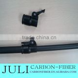 Carbon fibre telescopic pole with different style clamps, Carbon fiber telescopic tube for window cleaning