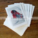 Christmas Cards, Red Finch in Snow Watercolor Painting card,Set of Six Blank Cards,hand-painted cards,christmas finch card