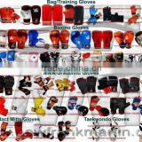 MMA Grappling Gloves, Boxing Gloves, Bag Gloves Mitts, Semi Contact Mitts/Gloves, Taekwondo Gloves and Kenpo/Bruce lee Gloves