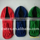 Polar fleece beanie hat scarf gloves set
