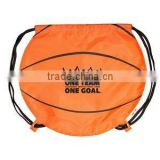 Promotional Basketball Sport Drawstring Bag/Cinch Backpack