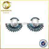 Brazil hot sale black gold plated fashionable pearl earrings design