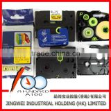 Best price compatible brother p-touch laminated tz label tape black on yellow 9mm TZ-621