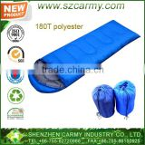 2014 Hot Sale Hollow Cotton 200gsm New Product Camping Polyester Envelop Outdoor Sleeping Bag