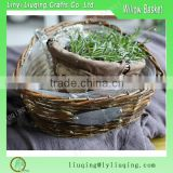 Wholesale willow wicker garden basket handmade christmas flower pot with liner                                                                         Quality Choice