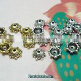 Wholesale 6mm Silver And Gold Bali Bead Caps Fit Jewelry Handcraft PB-BC008