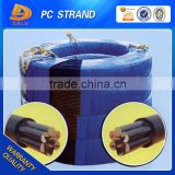 China factory sale Unbonded Steel Strand PE Coated PC Strand