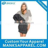 custom cut and sew hoodie dress for women
