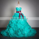 turquoise wedding dress CYW-037