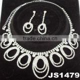 fashion wedding bridal crystal avenue necklace jewelry set