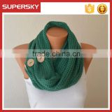 V-438 crochet lace circle cable pattern neck warmer loop scarf knitting winter women circle loop scarves