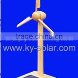 solar wooden windmill toys for shool education
