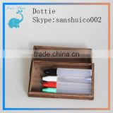 China New design wooden box with eye drop bottle hot sale eliquid ejuice dropper bottles