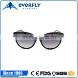 Fashion Acetate Plastic Frame Mirror PC Sunglasses With Resin Coating for Outdoor Party Travel Driving