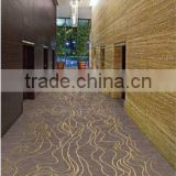 Chinese strong wave classic light brown corridor nylon floor carpet for five star hotel carpet