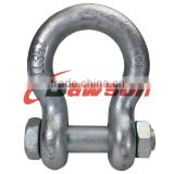 high tensile forged alloy anchor shackle bolt type