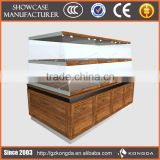 Supply all kinds of pizza display,cosmetic display unit,wall shelves bar display with lights acrylic