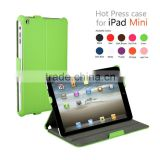 "Multi angle foldable Luxury Leather hardcase hot press setting cas for iPad mini 7.9"" inch with Magnet Sleep/Wake up funtion"