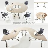 wholesale modern fashionable MDF Folding table office table (NH2605')