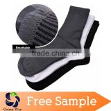 custom fiber 100% men bamboo sock wholesale