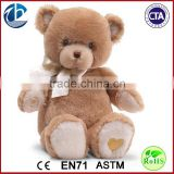 Lovely Plush Teddy Bear with Clothes / Wholesale Customized Plush Smile Bear Manufacturer Toy