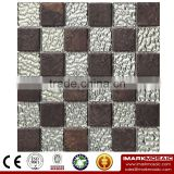 IXGC8-007 Electroplated Color Glass Mix Ceramic Mosaic Tiles for wall mosaic art decoration From Imark