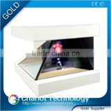 2016 Chariot indoor 3d hologram screen, advertising showcase, showbox, pyramid.