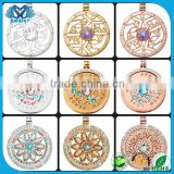 Wholesale Alibaba Stainless Steel Coin Locket Diamond Necklace