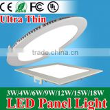 Ultra thin 3W 6W 9W 12W 15W 18W 24W dimmable LED downlight Square LED panel / painel light lamp 4000K for bedroom luminaire