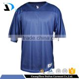 Daijun oem high quality 100% polyester mesh football jersey fabric jersey football cheap blank football jerseys