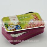 gold supplier direct rectangle colorful gift packaging tin box