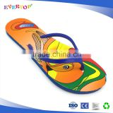 Good quality PE beach slippers with new arrival custom logo hot selling ladies flat sandal professional flip flops