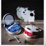 Chinese colorful flower square contact lens case