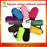 Outdoor Inflatable Lounger Nylon Fabric Beach Lounger Convenient Compression Air Bag Hangout Bean Bag Portable